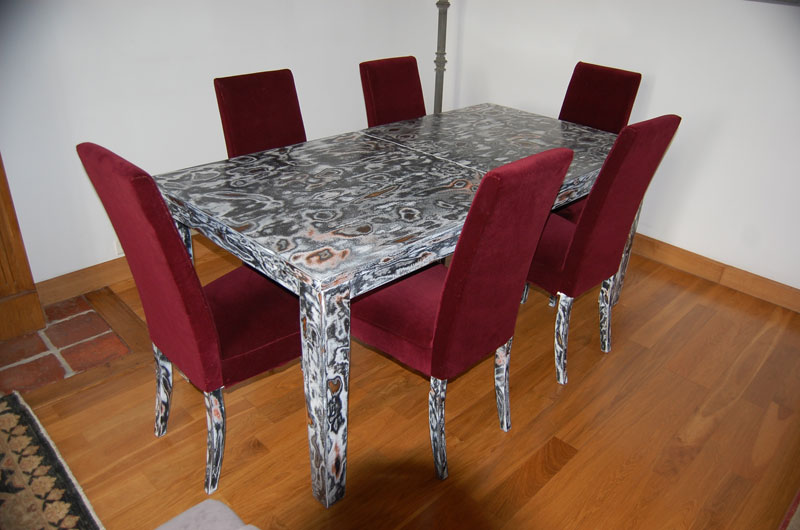 Ensemble Table + Chaises